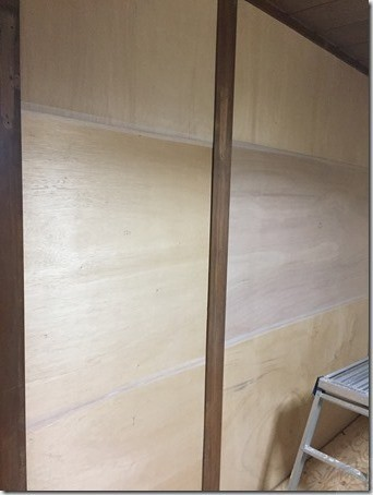 和室DIY ベニヤ板貼完了&パテ処理