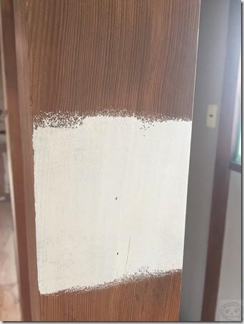 竿縁天井とか柱へのシーラー塗装